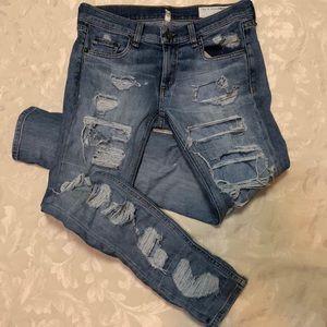 Rag & Bone distressed skinny jeans size 24